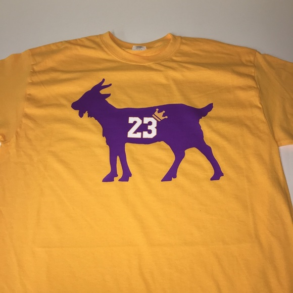 fdd80dd4bb59 Los Angeles Lakers Lebron James Goat Shirt